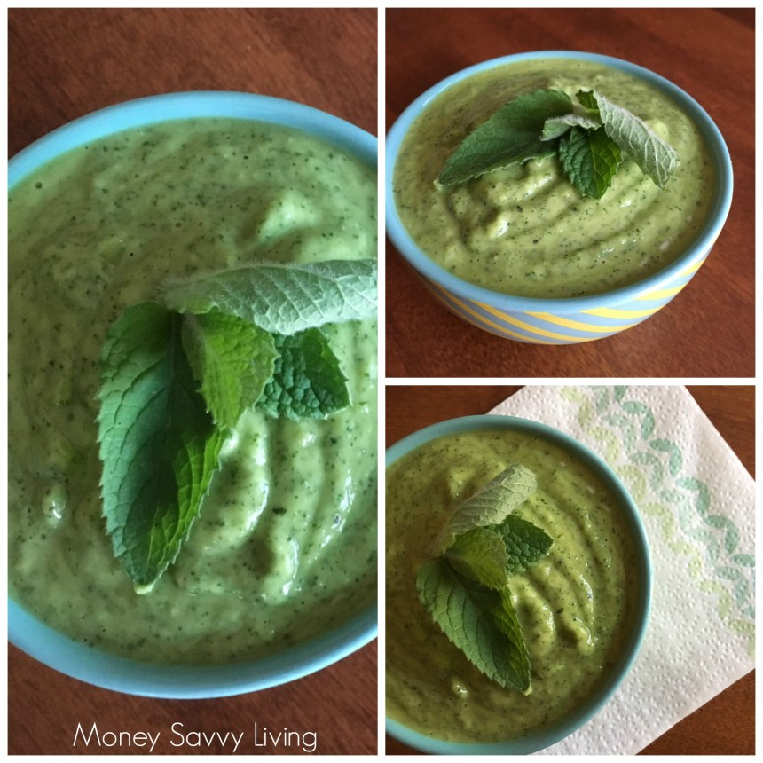 Creamy Avocado & Mint Dip | Money Savvy Living