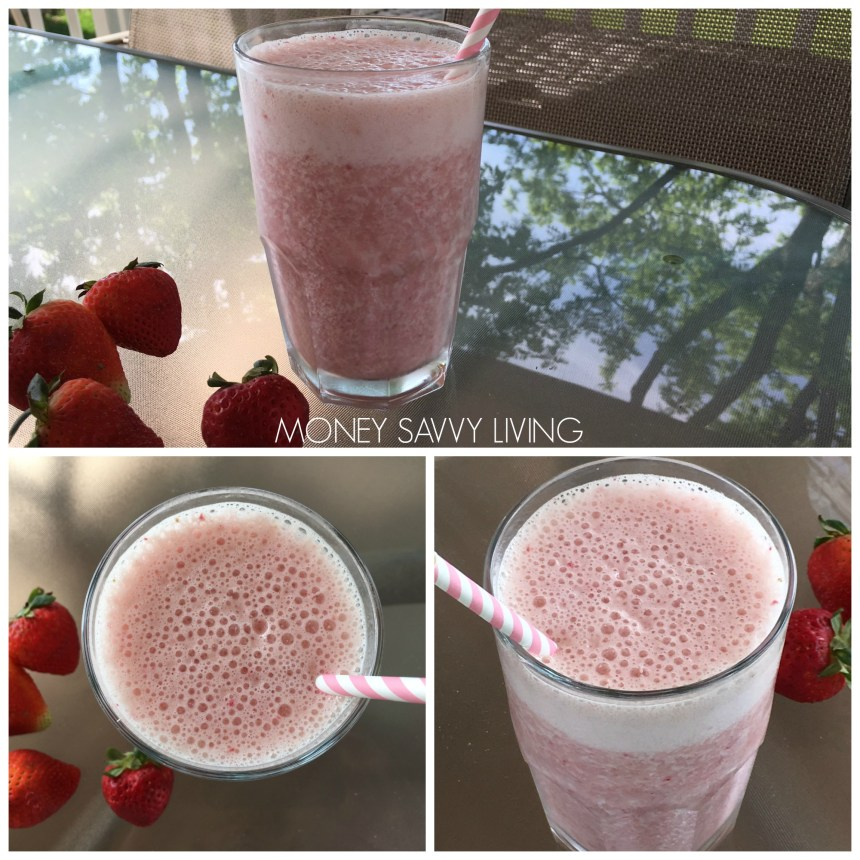 Orange Julius Copycat Strawberry Banana Smoothie | Money Savvy Living