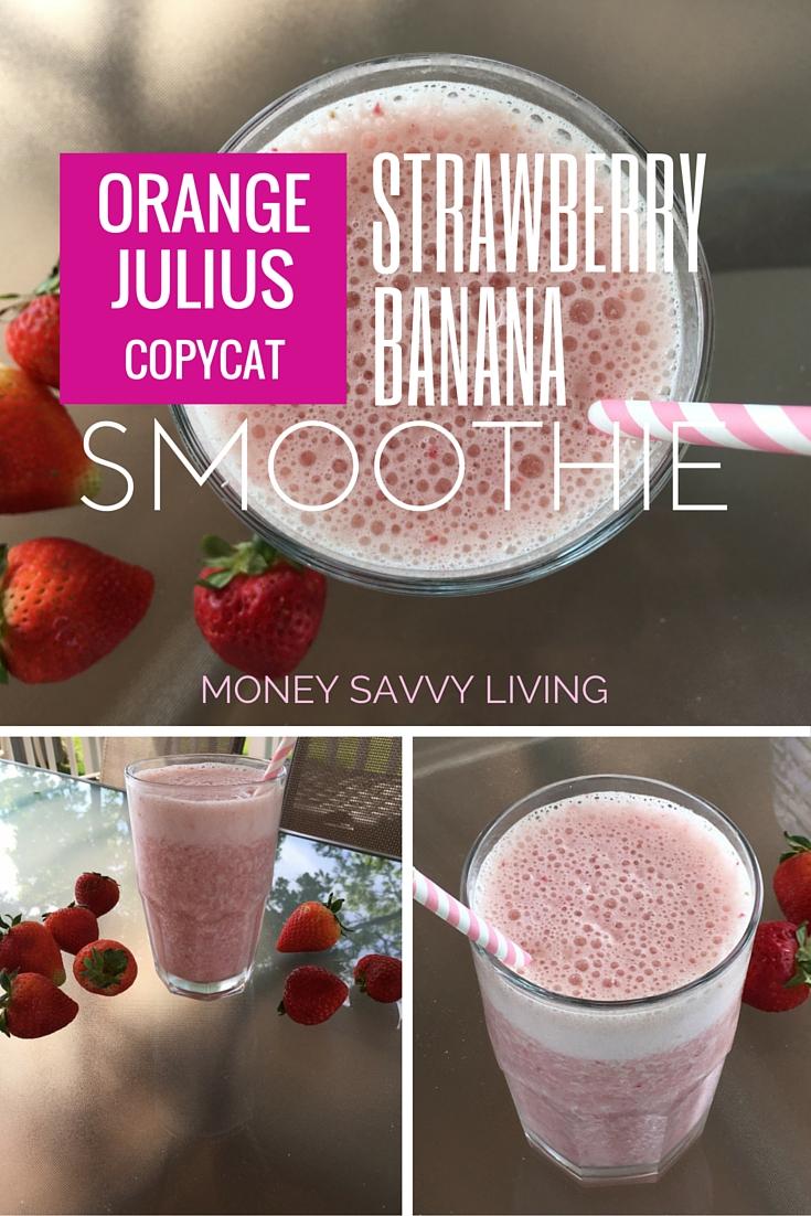 Strawberry Banana Smoothie | Money Savvy Living