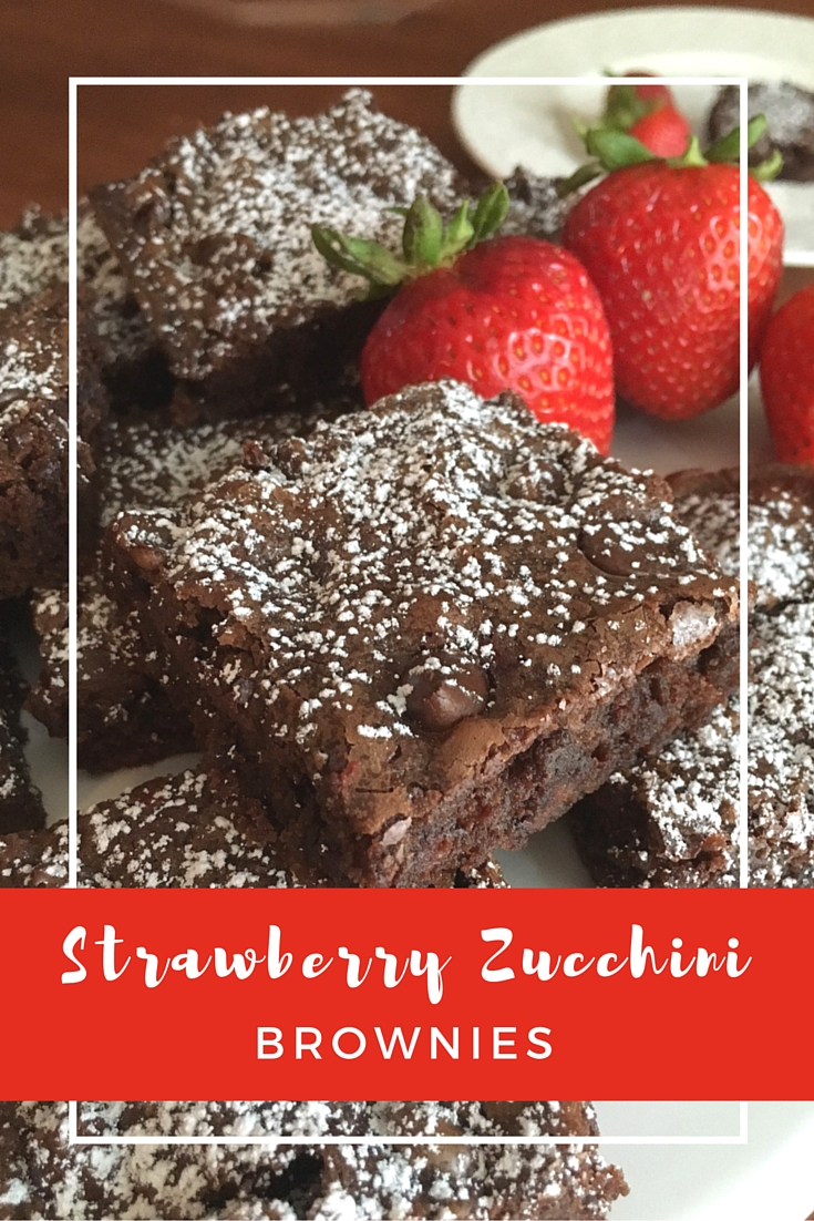 Strawberry Zucchini Brownies | Money Savvy Living
