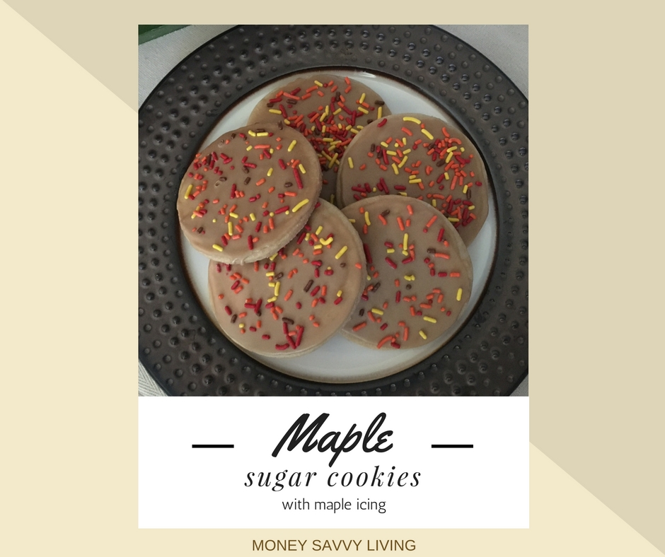 Looking for a fall flavor other than pumpkin?? You will love these maple sugar cookies! The old fashioned taste just like grandma used to make! Maple Sugar Cookies with Maple Icing #maple #cookies #cookierecipe #frostedcookies #maplecookies