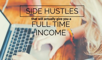 Side Hustles That Will Actually Give You a Full Time Income. Want to work from home? These side businesses are easy and low cost to start. #sidehustle #sidebusiness #workfromhome #onlinework #gigeconomy
