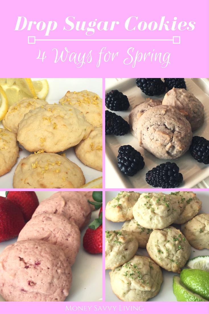 Drop Sugar Cookies ~ 1 easy reicpe, 4 delicious flavors // Money Savvy Living