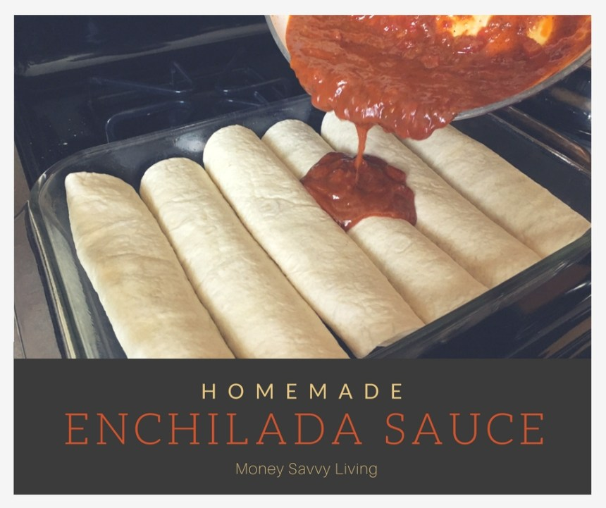 Homemade Enchilada Sauce // Money Savvy Living #healthycooking #cincodemayo #enchilada