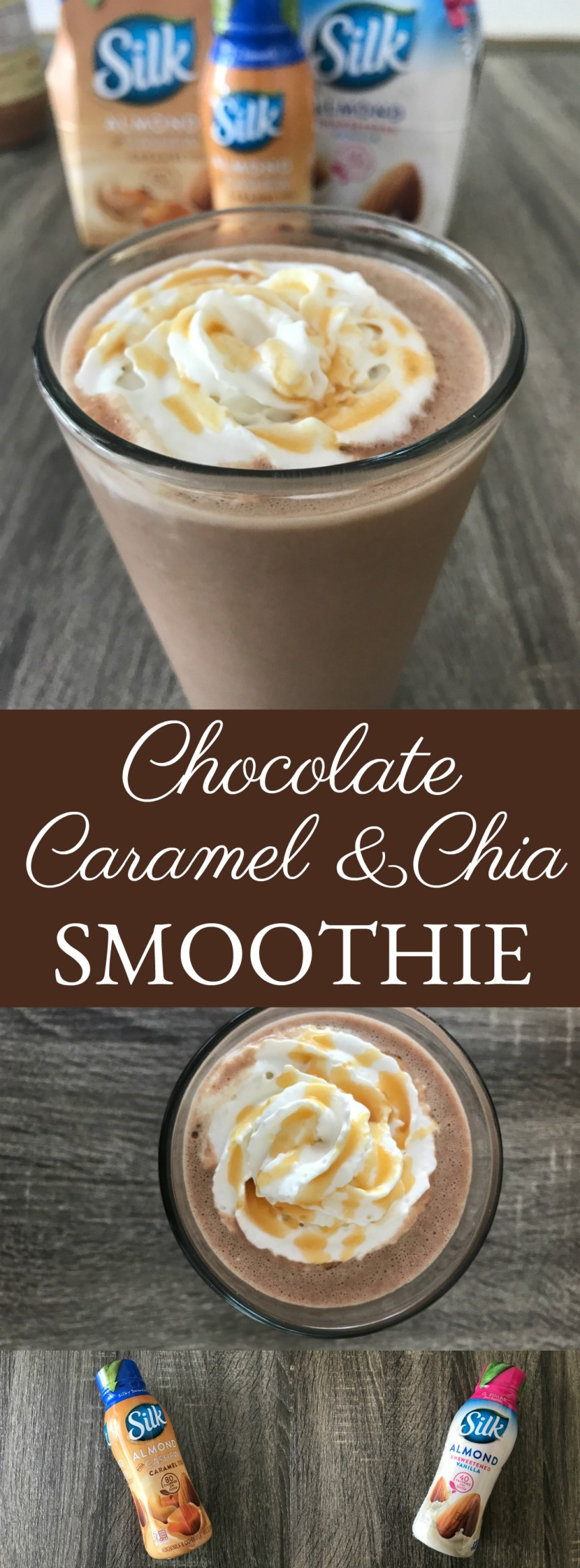Chocolate Caramel Chia Smoothie // Money Savvy Living // #PlantBasedGoodness
