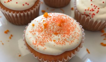 Easy Orange Creamsicle Cupcakes with Marshmallow Frosting