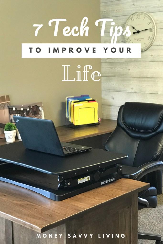 7 Quick & Easy Tech Tips to Make Your Life Better // Money Savvy Living #Amazon #PrimeDay #FlexiSpot #ergonomicdesk #techtips