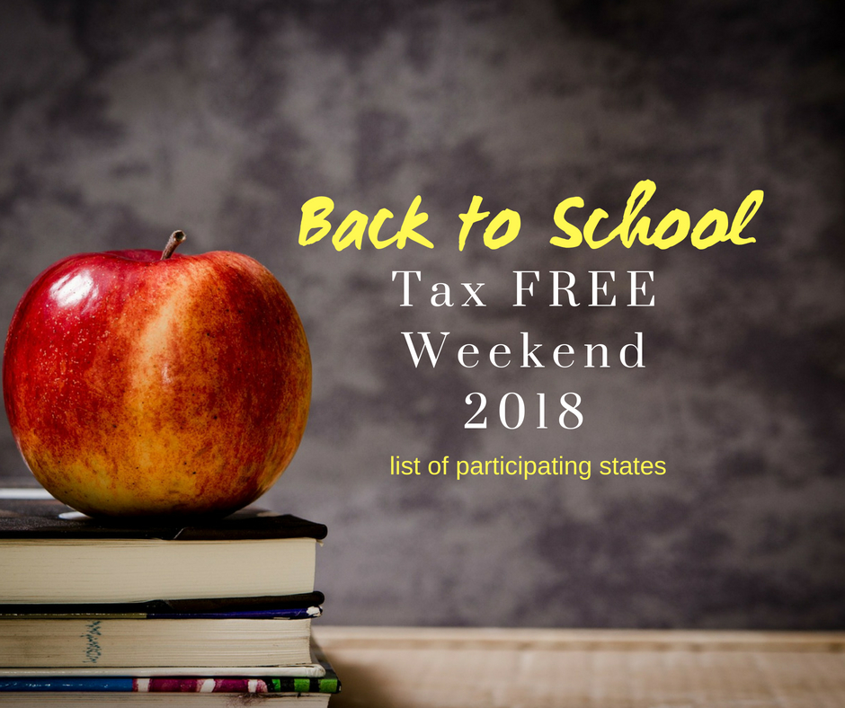 Back to School Tax Free Weekend 2018