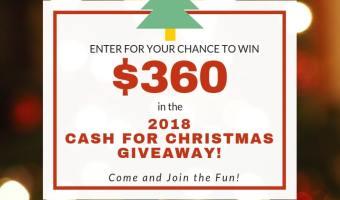 Cash for Christmas Giveaway 2018