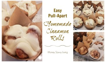 Looking for a quick and easy recipe for homemade cinnamon rolls? You will definitely want to try these Easy Pull Apart Homemade Cinnamon Rolls! #cinnamonrolls #monkeybread #homemade #breakfast #dessertrecipe #cinnamonrollrecipe #monekybreadrecipe