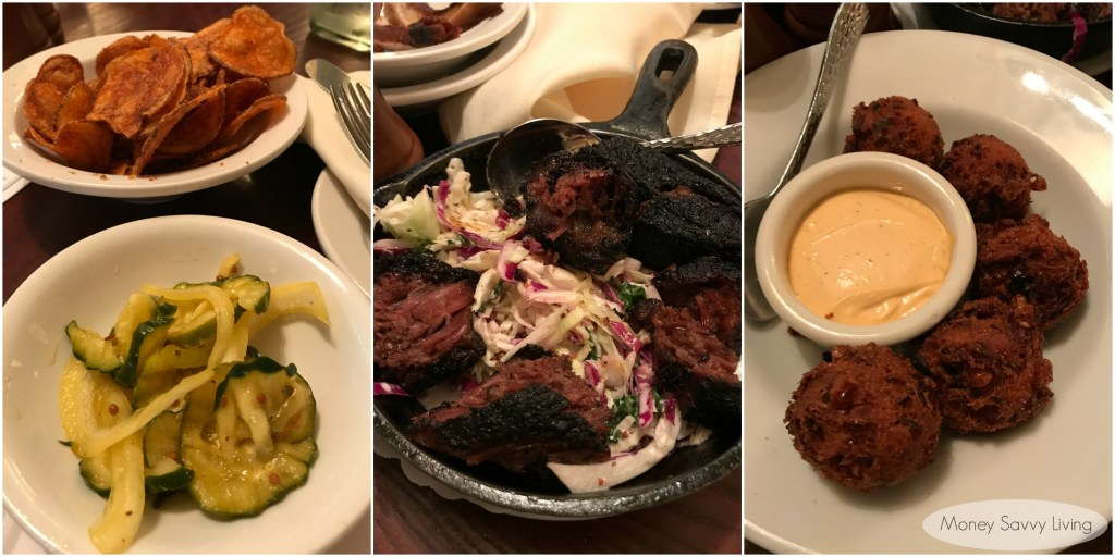 Best places to eat in Chicago! #chicago #chicagofood #travelchicago #chicagoq #chicagoqbbq #southernfood #briskettips #hushpuppies #baconhushpuppies #bbq #homemadepickles #burntends