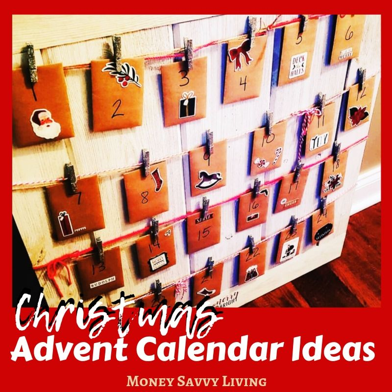 Looking for fun activities to add to your DIY Advent calendar this Christmas?  Here are 45+ Advent Calendar Ideas!  #Christmas #advent #adventcalendar #Christmascraft #Christmasdecor #DIY