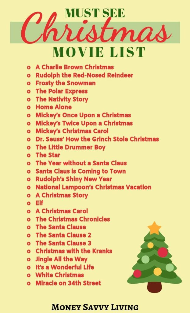 Ultimate List of Must See Christmas Movies #Christmas #Christmasmovies #ChristmasMovieList