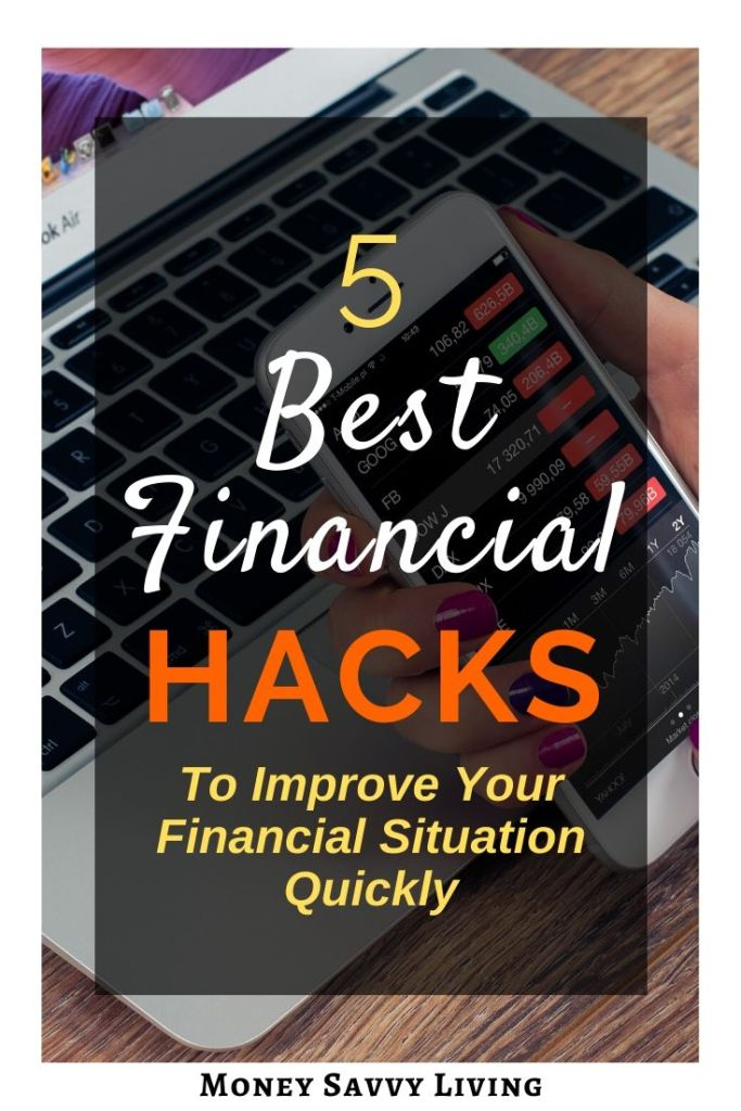 Move beyond the finance basics and impact in your budget with five of the best financial hacks to improve your financial situation quickly. #finance #financialhacks #money #personalfinance #moneytips #moneyhacks #moneysavvy