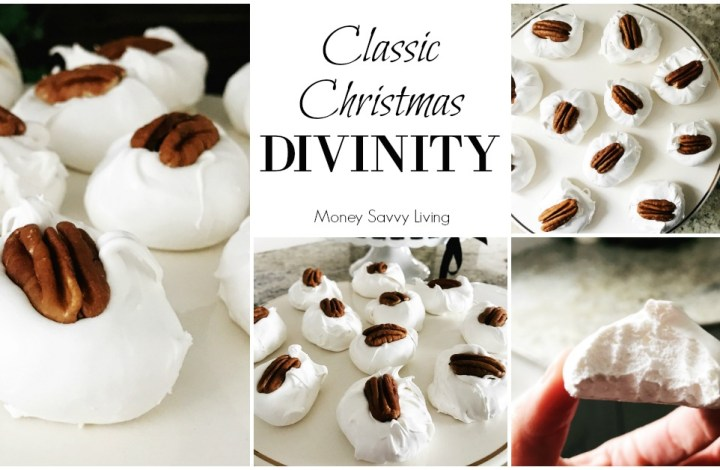 Old Fashioned Divinity Candy #divinity #divinityrecipe #pecandivinity #divinitycandy #Christmas #ChristmasCandy #christmascookies