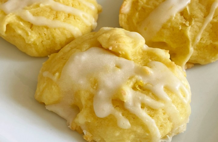 These Lemon Cake Mix Cookies are so easy to make! And we kick up the lemon flavor with a lemon glaze! #cakemixcookies #lemon #lemoncookies #lemonglaze #semihomemade #easydessert