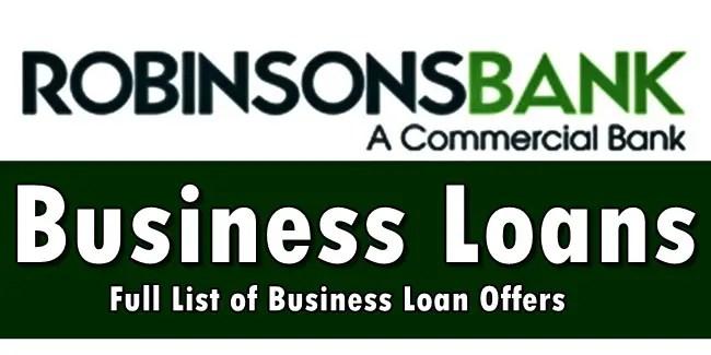 Robinsons Bank Business Loans