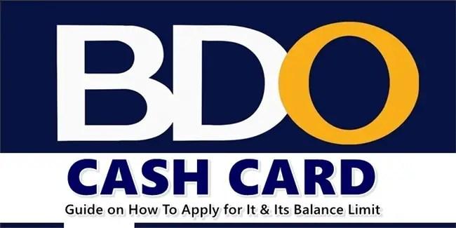BDO Cash Card