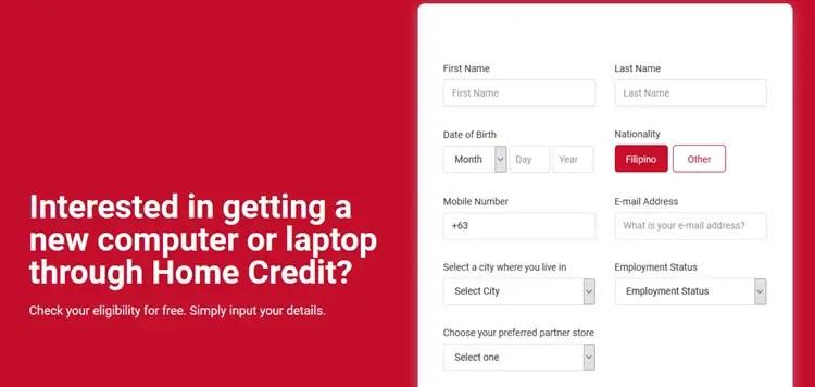 Home Credit Computer Loan