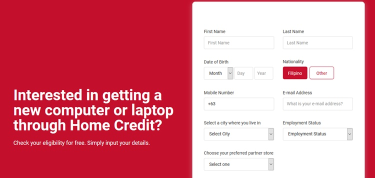 Home Credit Computer Loan