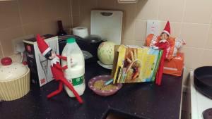 Elf on The Shelf Making Breakfast