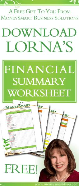 free financial summary worksheet