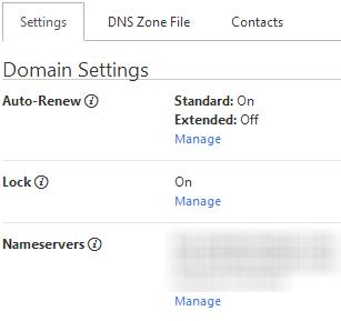 godaddy-nameservers-settings