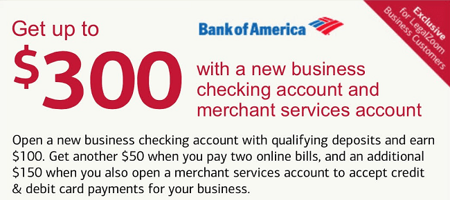 Bank Of America Personal Checking 100 300 350 And