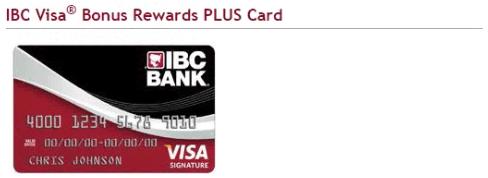 IBC Visa Bonus Rewards PLUS Card