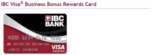 IBC Visa Business Bonus Rewards Card