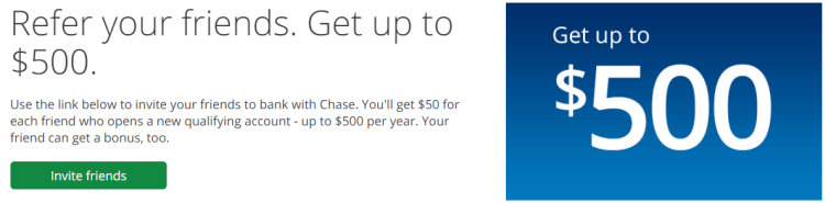 Chase Bank $500 Referral Bonus