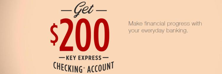 KeyBank $200 Key Express Checking Bonus