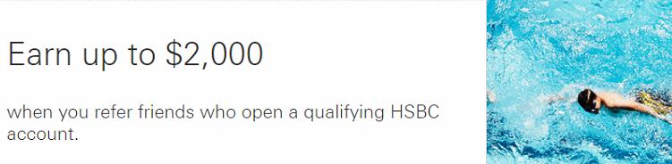 HSBC $2000 Referral Bonuses