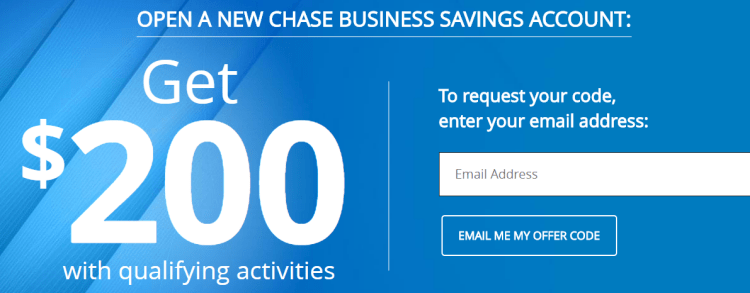 chase bank business account coupon