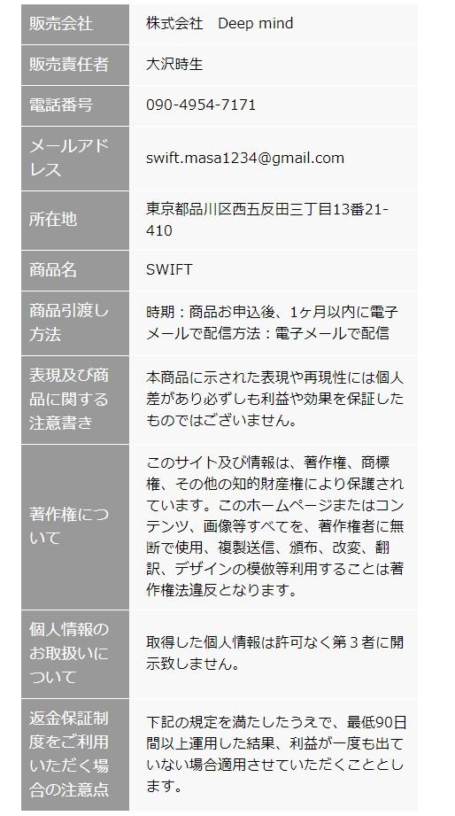 SWIFT 特商法