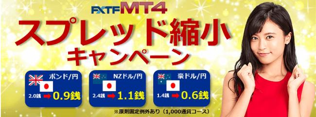 FXTF MT4スプレッド縮小キャンペーン(2019年6月)