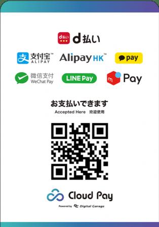 デジタルガレージグループのマルチ QR コード決済ソリューション 「クラウドペイ」、Alipay、AlipayHK、Kakaopay に対応