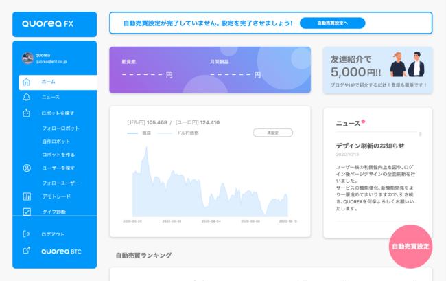 日本初のAI投資プラットフォームサービス「QUOREA」がページデザインを全面リニューアル