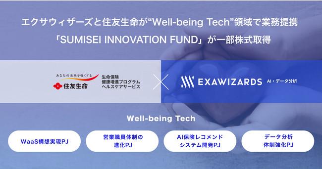 """エクサウィザーズと住友生命が""""Well-being Tech""""領域で業務提携"""
