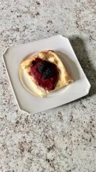 keto, gluten-free german pancake and berry syrup