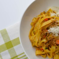 Tagliatelle with chicken liver ragù
