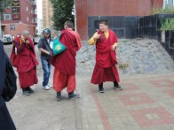 Lama's (monks) on the street
