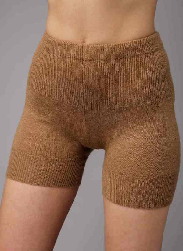 Camel Woolen Women's Short