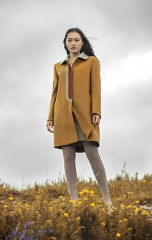 Yellow Women Coat