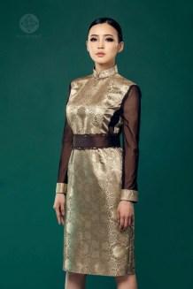 Mongolian Dress with Brown Belt