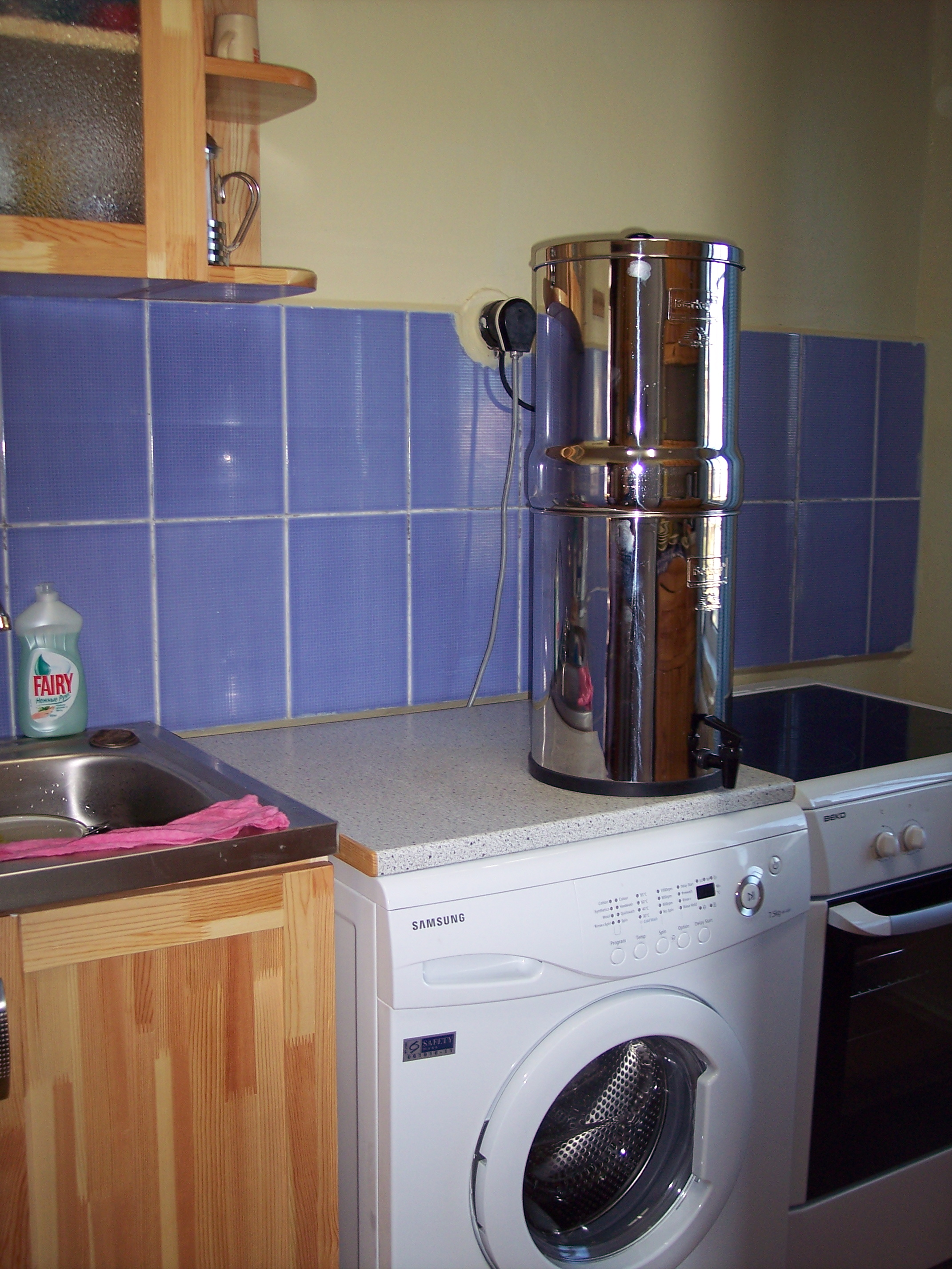 water filter, washer, stove