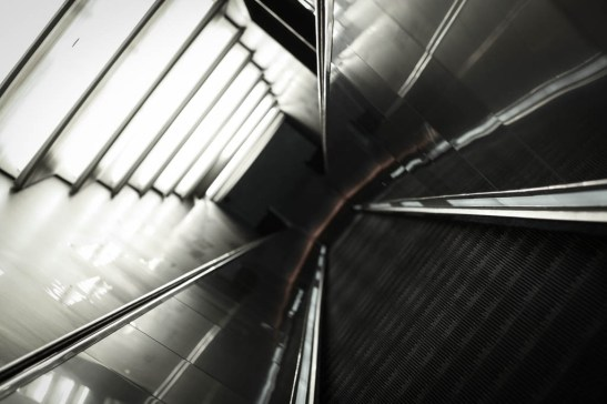 A very tall escalator