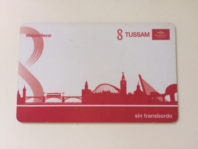 セビリアの市バスTUSSAMのカード
