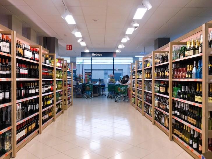 メルカドーナのワイン売り場