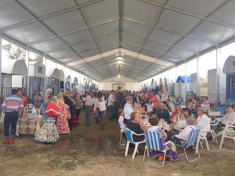 ロシオの巡礼祭のテント